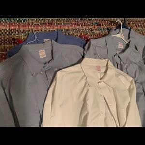 SIX men's size 20 XXL 3x button down dress shirts
